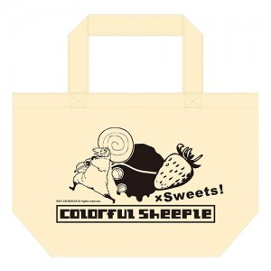 Colorful Sheeple × Sweets! ランチトートバッグ