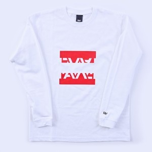 『FAV gaming』SPLIT LOGO LONG SLEEVE WHITE M